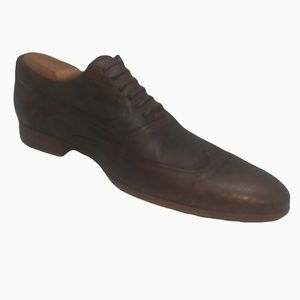 N.D.C Made by Hand Oxford Mocha Leather Mens